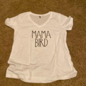 """New """"Mama Bird"""" white tee"""